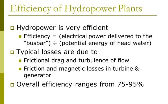 66 Efficiency of Hydropower
