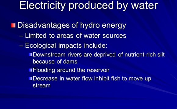 By water Disadvantages of