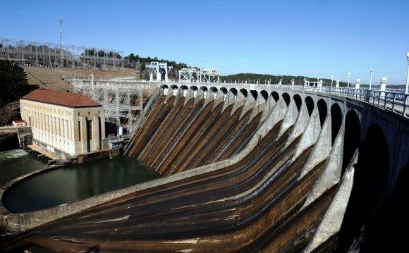 Martin Dam controls lake