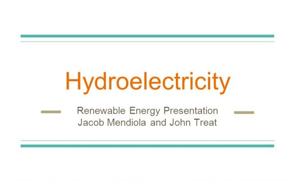 Hydroelectricity Renewable