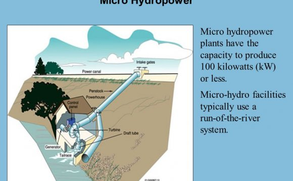 Micro hydropower plants have