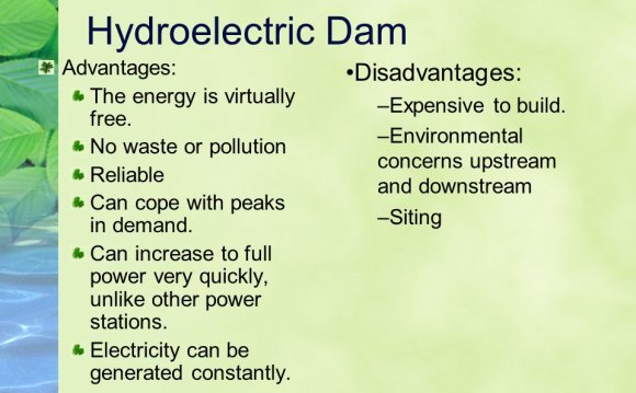 Hydroelectric Dam Advantages: