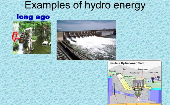 Examples of hydro energy