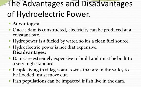 What are disadvantages of hydroelectric power?