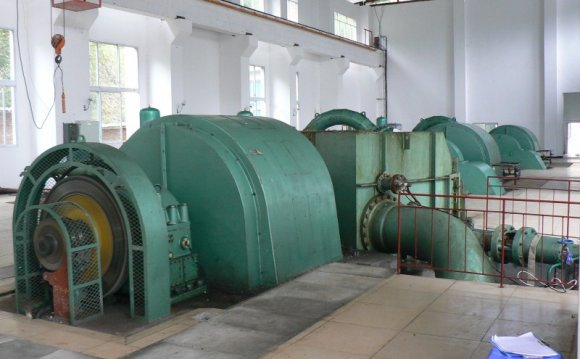 Generator used in hydroelectric power plants
