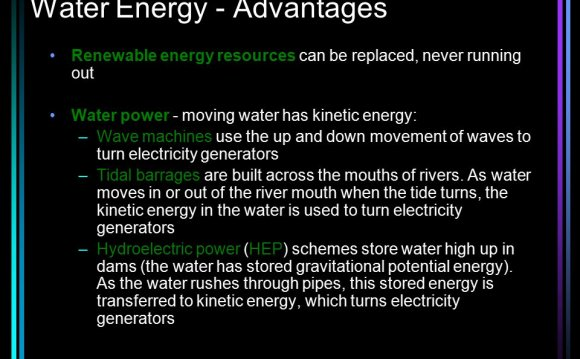 Advantages of water turbines
