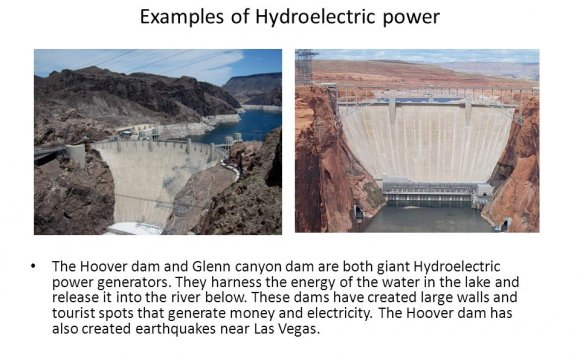 Examples of hydroelectric power