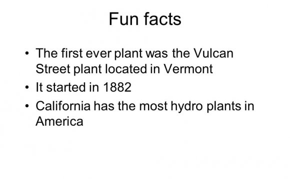 Fun Facts about hydroelectric power