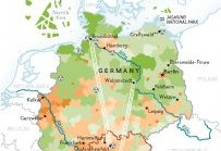 Map of Power Generation in Germany, 2050