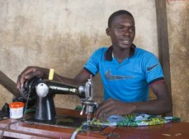 Moussa Samgare, 18, is a tailor just who additionally is the owner of a plot of irrigated land. He works in the field every morning from 7am, then would go to their store and works indeed there until 6pm (picture: Mike Goldwater/GWI)