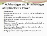 Advantages and disadvantages of Hydroelectric