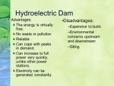 Hydroelectric dam advantages