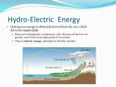 Meaning of hydroelectric energy