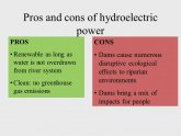 Pros and cons of Hydroelectric
