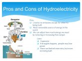 Pros and cons of Hydroelectricity