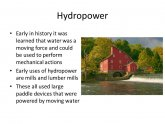 Uses of Hydropower