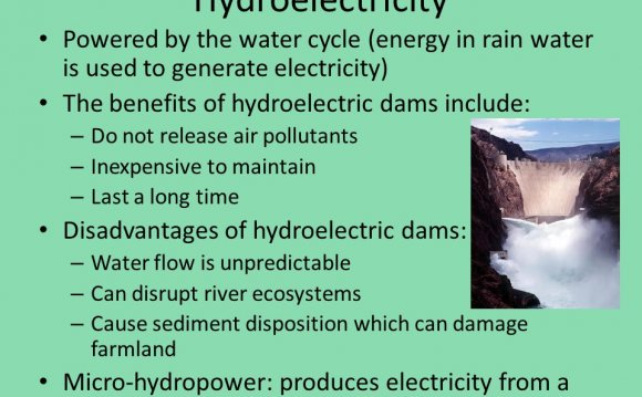 Used in dams to generate electricity