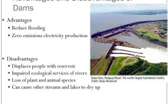 What are the advantages of dams?